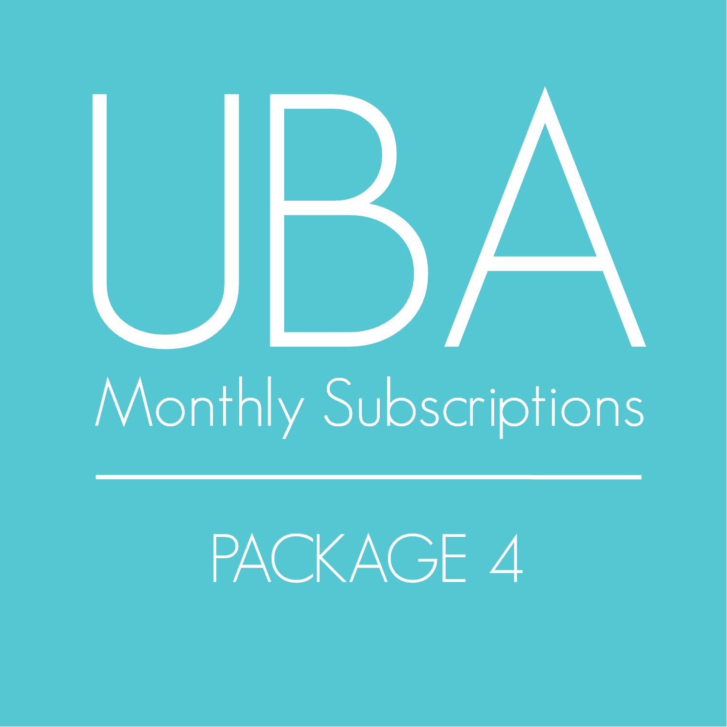 Monthly Subscription (Package 4)